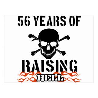 56 años de infierno de aumento tarjetas postales