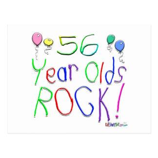 ¡56 años de la roca! postal