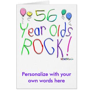 ¡56 años de la roca! tarjeta de felicitación