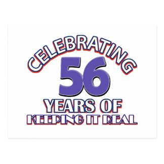 56 años de mantenerlo real postales