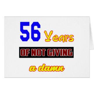 56 años de no dar a tarjeta de felicitación