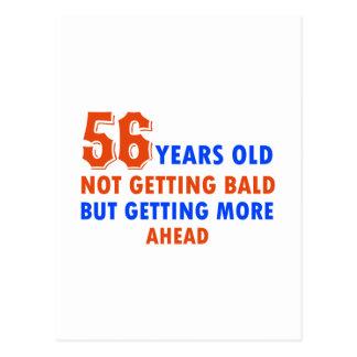 56 años divertidos no calvos postal