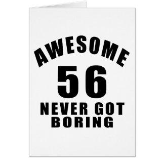 56 nunca conseguidos el taladro tarjeta de felicitación
