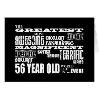 56.o Años más grandes de la fiesta de cumpleaños l Tarjeta Pequeña