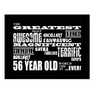56.o Años más grandes de la fiesta de cumpleaños Postal