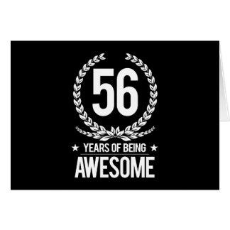 56.o Cumpleaños (56 años de ser impresionantes) Tarjeta De Felicitación