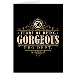 56.o Cumpleaños (56 años de ser magníficos) Tarjeta De Felicitación