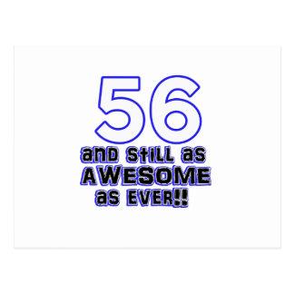 56.o diseño del cumpleaños postal