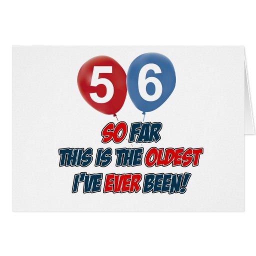 56.o regalo de cumpleaños año felicitacion