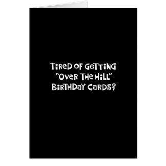 56.o Tarjeta divertida de la colina del cumpleaños