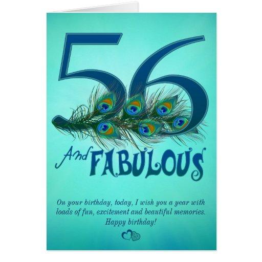 56.o Tarjetas de la plantilla del cumpleaños