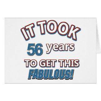 56.os diseños del cumpleaños del año tarjeta de felicitación