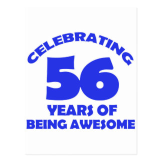56.os diseños del cumpleaños postal