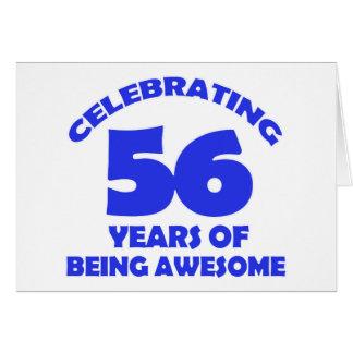 56.os diseños del cumpleaños tarjeta de felicitación