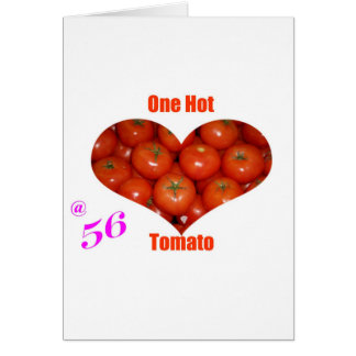 56 un tomate caliente tarjeta de felicitación