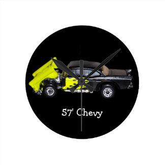 57' Chevy - reloj de pared redondo