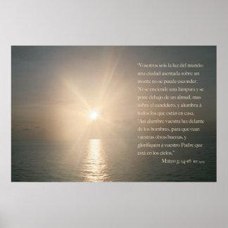 5:14 de Mateo - 16 (versión horizontal) Posters