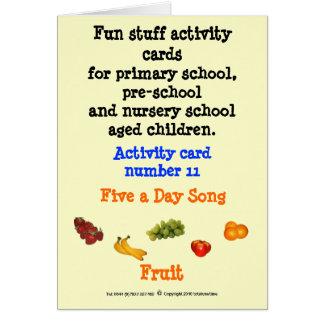 5 al día - fruta tarjeta de felicitación