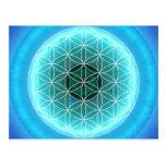 5 azules claros del chakra de la garganta creados  postales
