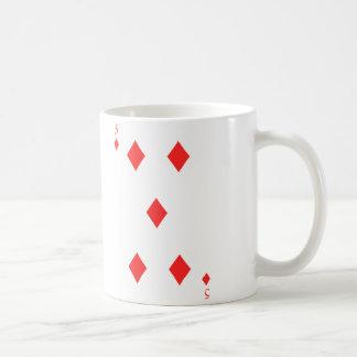 5 de diamantes taza de café