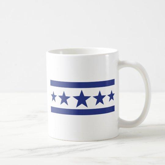 5 estrellas azules taza de café