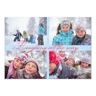 5 fotos que ríen hasta el final - la tarjeta de invitación 12,7 x 17,8 cm