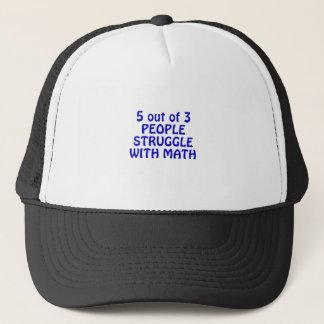 5 fuera de lucha de 3 personas con matemáticas gorra de camionero