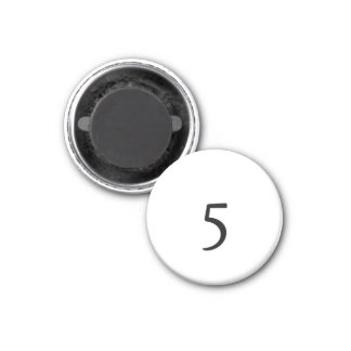 5 IMÁN REDONDO 3 CM