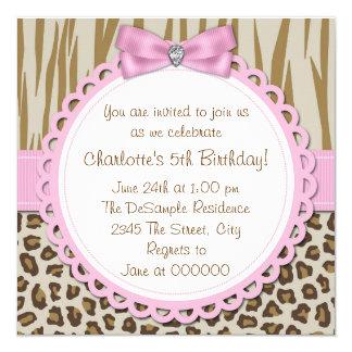 5ta fiesta de cumpleaños de los chicas dulces del invitación 13,3 cm x 13,3cm