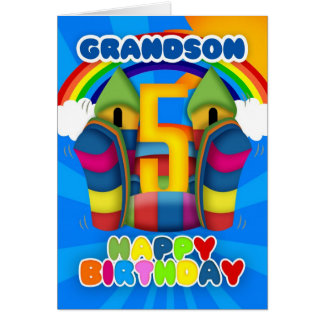 5ta tarjeta de cumpleaños del nieto con el