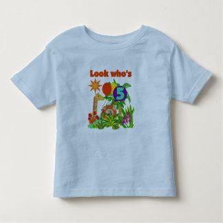 5tas camisetas y regalos del cumpleaños del safari