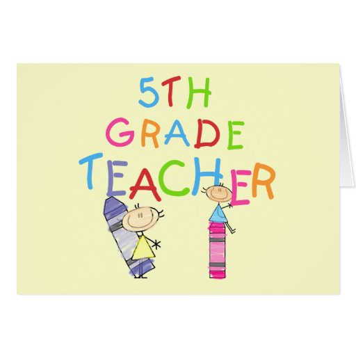 5tas camisetas y regalos del profesor del grado de tarjetas