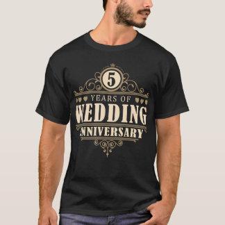 5to Aniversario de boda (marido) Camiseta