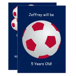 5to Balón de fútbol de la invitación de la fiesta