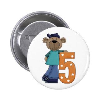 5to. Botón del Pin de la diversión del oso del cum