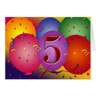 5to Decoraciones del globo de la fiesta de cumplea Felicitacion