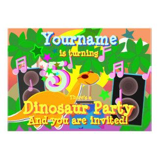 5to El dinosaurio fresco DJ del cumpleaños va de f Invitación