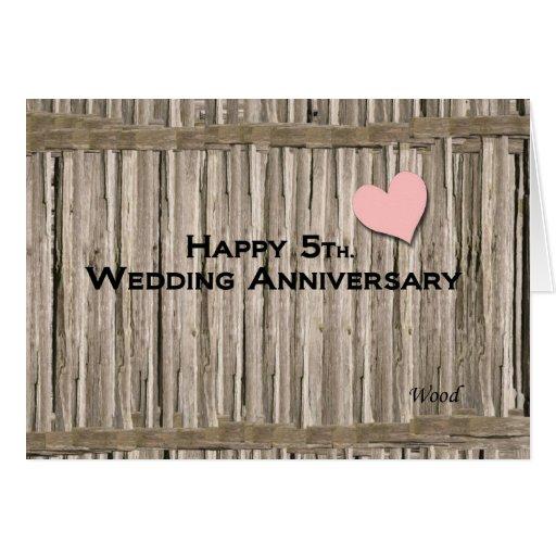 5to feliz. Aniversario de boda Felicitacion