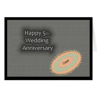 5to feliz. Aniversario de boda Tarjeta De Felicitación