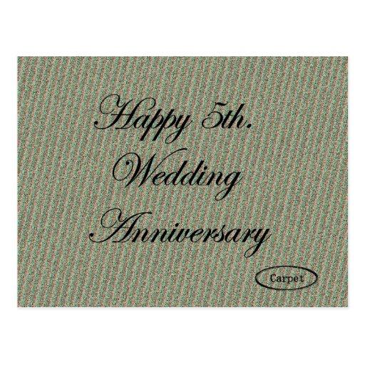 5to feliz. Aniversario de boda Postales