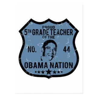 5to Nación de Obama del grado Postal