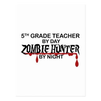 5to Noche del cazador del zombi del grado Postal