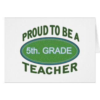 5to orgulloso Profesor del grado Felicitación