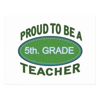 5to orgulloso Profesor del grado Tarjetas Postales