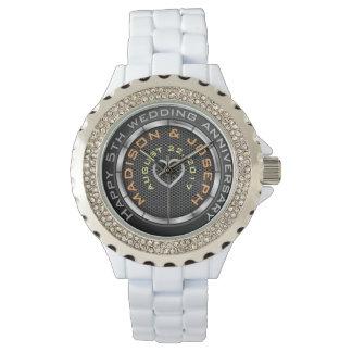 5to reloj elegante del aniversario de boda