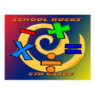 5to Rocas del grado - símbolos de la matemáticas Postal