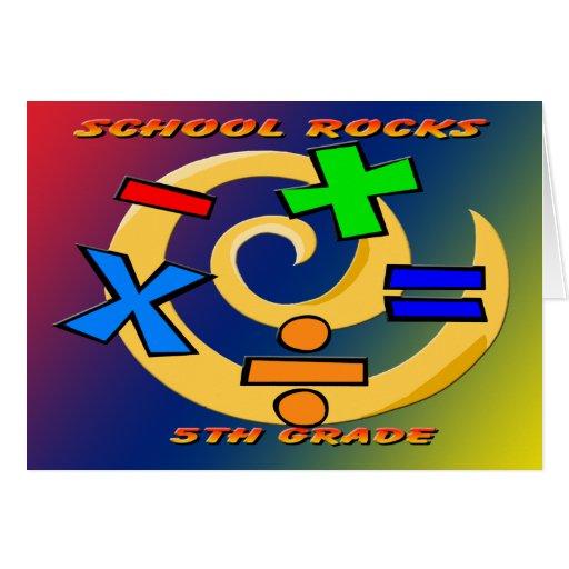 5to Rocas del grado - símbolos de la matemáticas Tarjeta