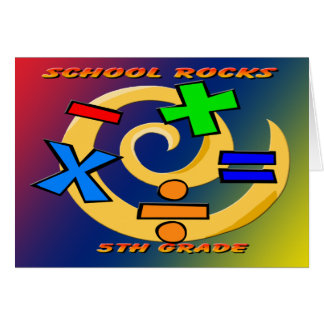 5to Rocas del grado - símbolos de la matemáticas Tarjeta De Felicitación