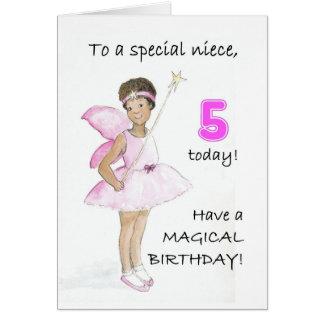 5to Tarjeta de cumpleaños para una sobrina