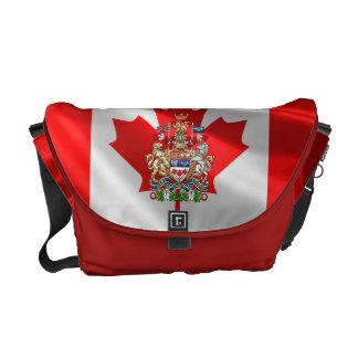 [600] Escudo de armas de Canadá [3D] Bolsa De Mensajería